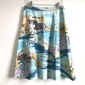 Boden Skirts - Boden /  Rivera print skirt -size 8L